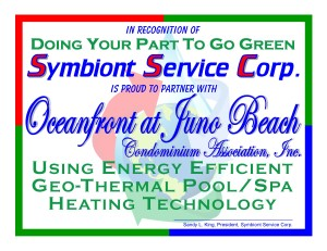 plaque for Oceanfront at Juno Beach